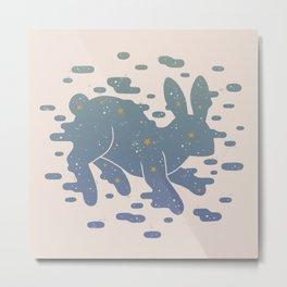Lepus Constellation: Pastel Metal Print