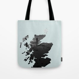 'Wandering' Scotland map Tote Bag