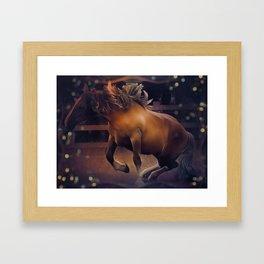 Postier Breton (horse) by GEN Z Framed Art Print