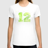 seahawks T-shirts featuring 12th Man Seattle Art by Olechka