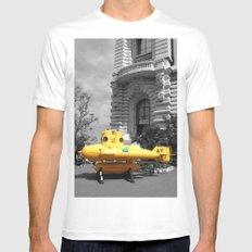 yellow submarine  MEDIUM White Mens Fitted Tee