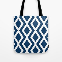 Navy Diamond Tote Bag