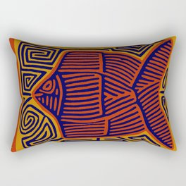 Here Fishy, Fishy Rectangular Pillow