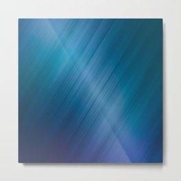 Jelly Bean & Blue Shades Metallic Pattern Metal Print