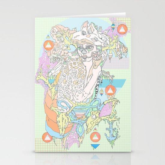 native & fluorescent pastels Stationery Cards