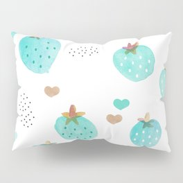 Strawberry summer love tropical hawaiian fruit Pillow Sham