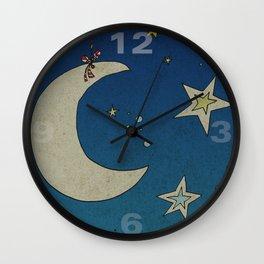 Moon Hanging Wall Clock