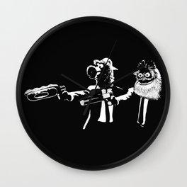 Phan Fiction Gritty Phillie Phanatic Pulp Fiction Wall Clock
