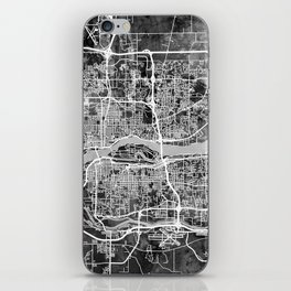 Quad Cities Street Map iPhone Skin
