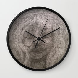 White haired Wall Clock