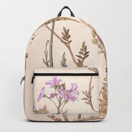 Pink floral design Backpack