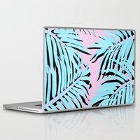 palm tree Laptop & iPad Skins featuring Palm tree by Hanna Kastl-Lungberg