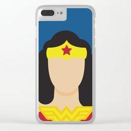 Woman Hero Lynda Carter, Wonder Clear iPhone Case