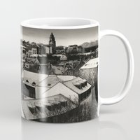 edinburgh Mugs featuring Edinburgh by Carlos Sanchez