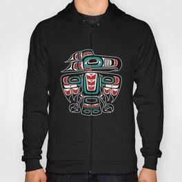 Haida Tlingit Native Raven Totem Hoody