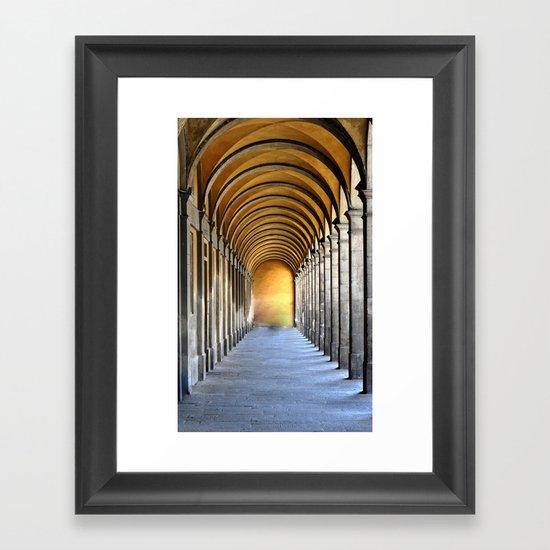 Golden Row Framed Art Print