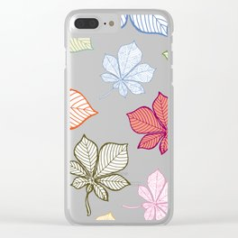 Autumn Leaves Pattern XIV Clear iPhone Case