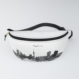 Auckland Black and White Watercolor Skyline Fanny Pack