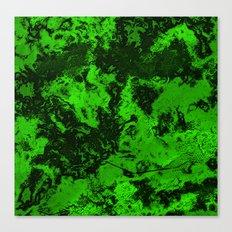 Galaxy in Green Canvas Print