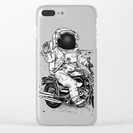 Moon Biker Clear iPhone Case
