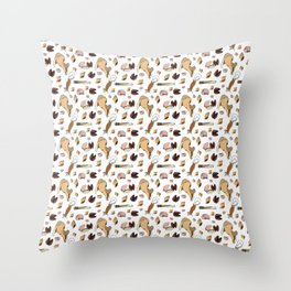 Along the Drift Line Throw Pillow