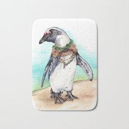 South African Penguin on the Beach Bath Mat