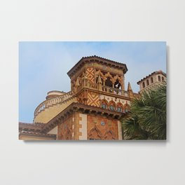 Architecture of Ca'D'Zan -House of John Ringling I Metal Print