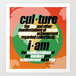 CULTURALLY SPEAKING Art Print