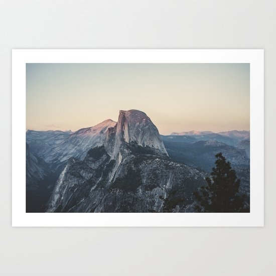 Shop Framed Art Print Half Dome Winter: Half Dome Art Print By Hraun Photography