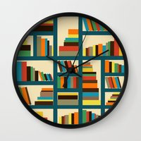 library Wall Clocks featuring library by vitamin