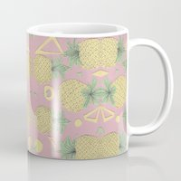 pineapples Mugs featuring Pineapples by homotrippin