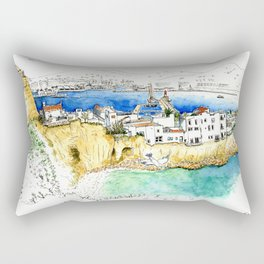 Ibiza old town end by the lighthouse Rectangular Pillow