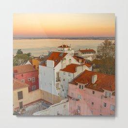 Sunset in Lisboa Metal Print