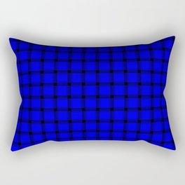 Small Blue Weave Rectangular Pillow