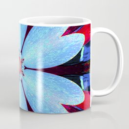 Blue abstract graphic colorful star galaxy flower pattern symbol of royalty, happiness and success. Coffee Mug