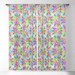 Tie Dye Holiday Lights Sheer Curtain