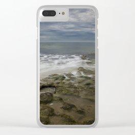 Reef, Sky and Sea Foam at Swami's, Encinitas, California Clear iPhone Case