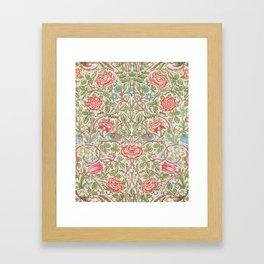 12,000pixel-500dpi - William Morris - Roses - Digital Remastered Edition Framed Art Print