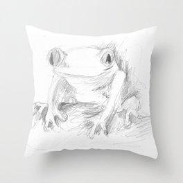 croak Throw Pillow