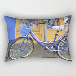 New Orleans Frenchman Bicycle Rectangular Pillow