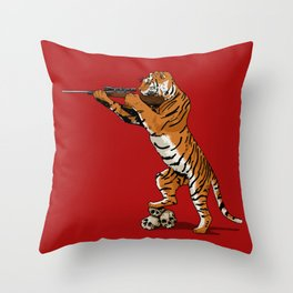 The Hunted becomes the Hunter Throw Pillow
