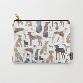 Greyhounds and Whippets Carry-All Pouch