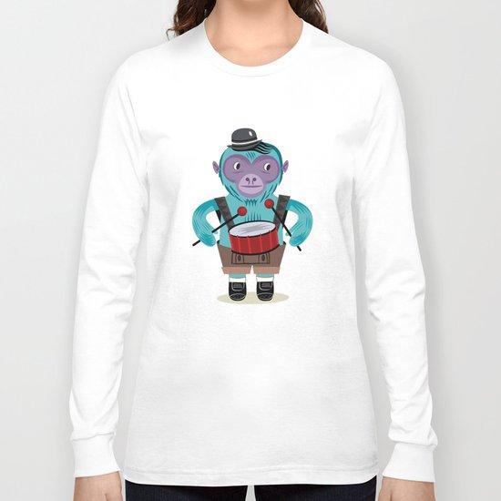 The Monkey Drummer Long Sleeve T-shirt