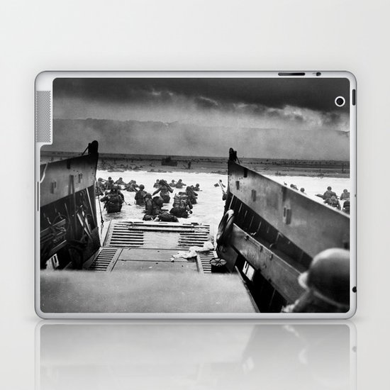 Into the Jaws of Death - D-day Vintage Photo by Robert F. Sargent by fineearthprints
