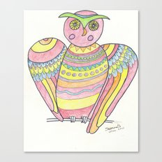 Owl hand drawing Canvas Print
