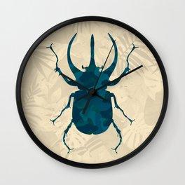 Original Camouflage Pattern Scarab Beetle Wall Clock