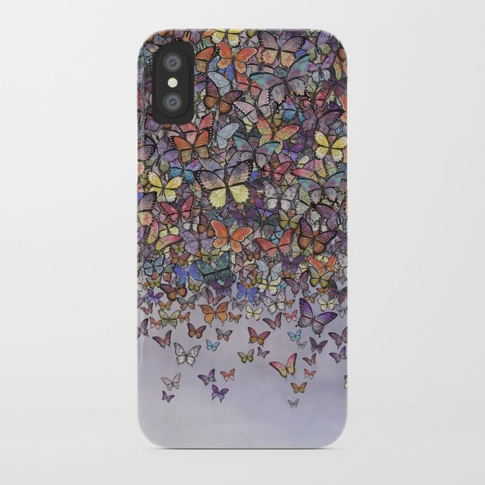 butterfly cascade iphone case