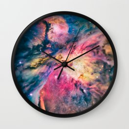 The awesome beauty of the Orion Nebula  Wall Clock