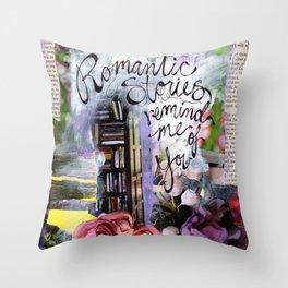 Romantic Stories Throw Pillow