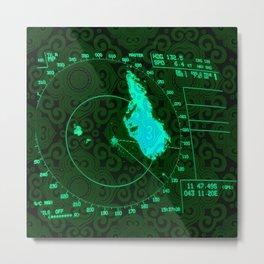 Radar Metal Print